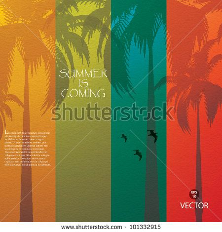 Grunge summer holiday background.Tropical banner by gigello, via ShutterStock