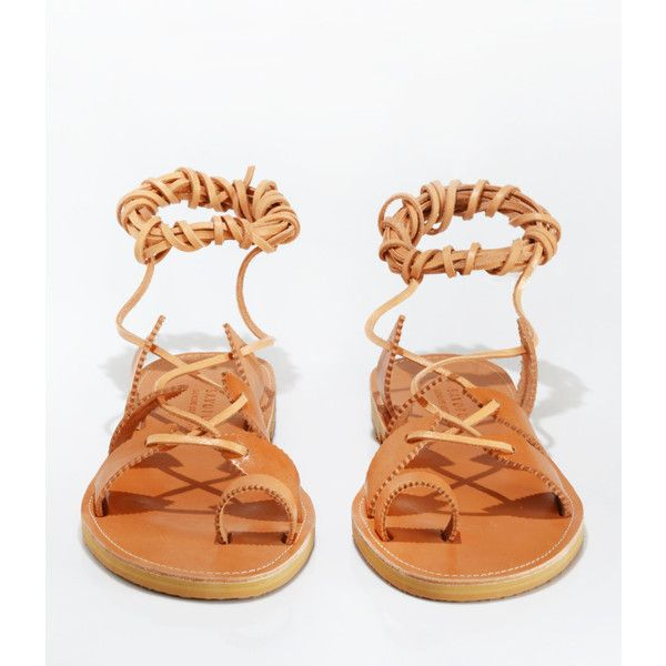 Sparti Leather Sandals Gladiator Sandals Lace Up Sandals Handmade... ($56) ❤ liked on Polyvore featuring shoes, sandals, leather strap sandals, leather sandals, lace-up gladiator sandals, roman sandals and leather gladiator sandals