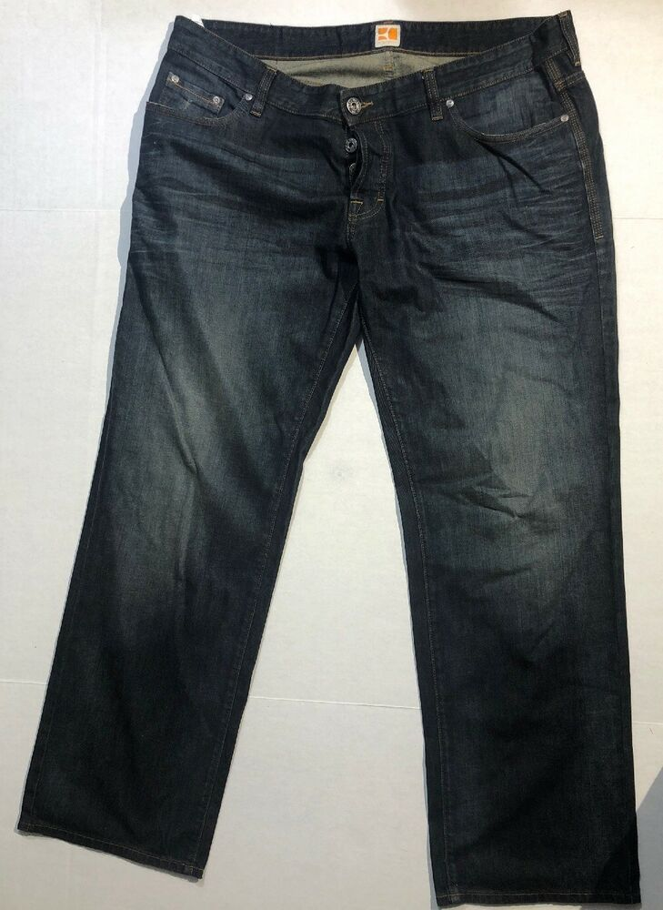 hugo boss button fly jeans