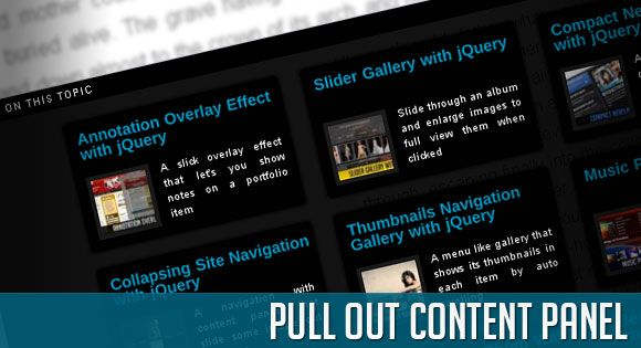 Pull Out Content Panel. http://tympanus.net/Tutorials/PullOutContentPanel/