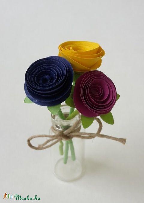 Mini virágcsokor II (gyongypapir) - Meska.hu