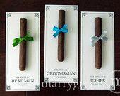 Groomsman Card Cigar Card Will You Be My Groomsman by marrygrams