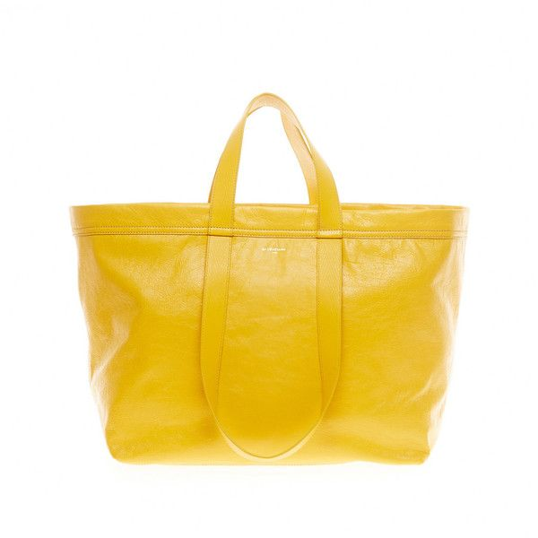 Balenciaga Carry Shopper M Arena Others Bag ($1,695) ❤ liked on Polyvore featuring men's fashion, men's bags, jaune colza, balenciaga mens bag, mens pouch bag, mens bags, mens key ring and mens pouch