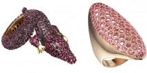 Per San Valentino Joubi ha ideato due imponenti e preziosissimi anelli da cocktail in oro rosa e zaffiri in vendita solo nella gioielleria Kabiri.  http://www.sfilate.it/179394/joubi-e-kabiri-anelli-esclusivi-per-san-valentino