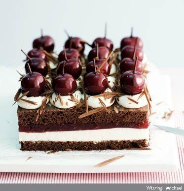 Rezept: Schwarzwälder Kirsch Schnitten backen