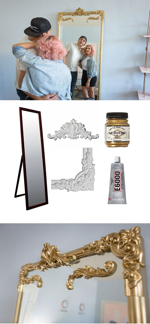 Diy Ornate Gold Mirror Fancy Decor Diy Mirror Gold Diy