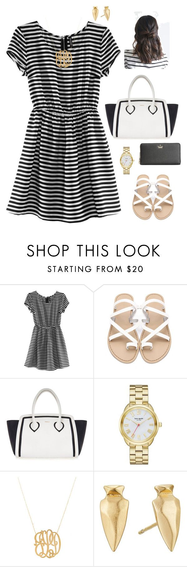 """""""Need help! RTD!!!"""" by oliviacat1215 ❤ liked on Polyvore featuring H&M, Furla, Kate Spade, Jennifer Zeuner, Kendra Scott and vintage"""