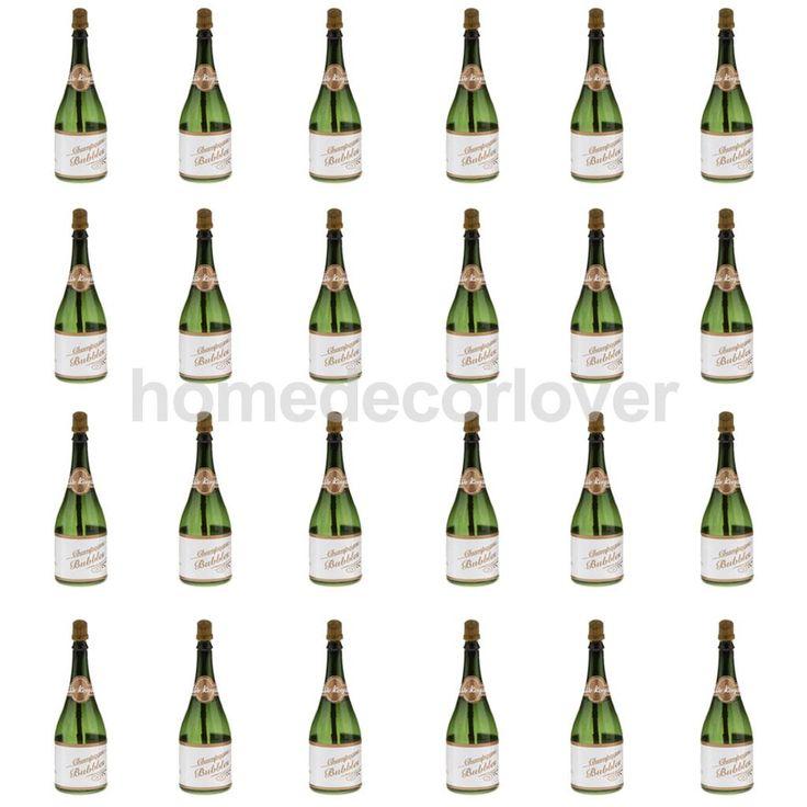 24 Pcs Mini Champagne Bulles Bouteille De Mariage Party Favors Réception Nouveau Ans(China (Mainland))