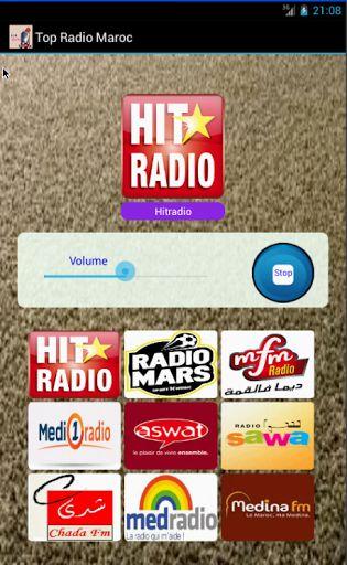 Ecoutez le Top des Radios marocaines qui couvre les principaux thèmes que se soit le sport, la musique , la famille, la religion, disponible en un clique  sur votre mobile. Si vous souhaitez plus de radios, envoyez moi un email et je les ajouterai dans une mise à jour. - Hit Radio - Radio Mars - Mfm - Medi1 Radio - Aswat - Radio Sawa - Chada FM - Med Radio - Medina FMtag: SNRT Chaîne Nationale - SNRT Chaîne M6 Coran - SNRT Chaîne Am...
