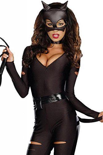 Lukis Batman Catwoman Damen Kostüm Fledermaus Korsage Halloween