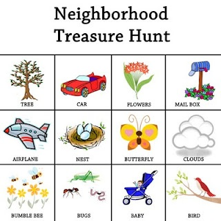 Neighborhood Treasure Hunt -- except make it for older kids -- T & S would totally dig that