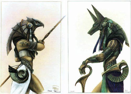 Horus and Anubis - Very cool but way too big. I wonder is a small version of an elaborate design is possible?