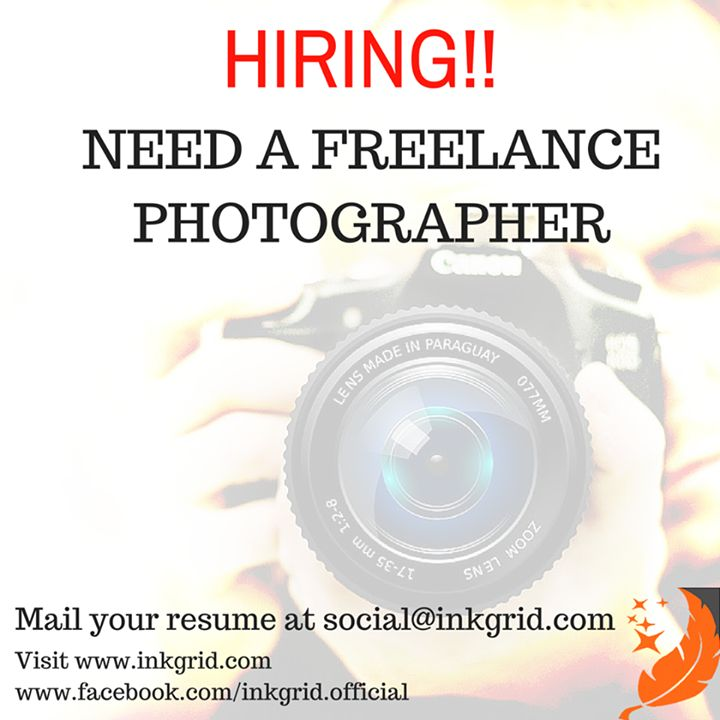 Do you love to click? If yes then this job is for you   We are looking for a freelance photographer from Delhi or around Delhi. Skills required:   Photography  Other requirements:   Personal conveyance required   Taste for creative product sourcing Mail your resume along with past sample work at social@inkgrid.com asap :) #hiring #inkgrid #freelancer
