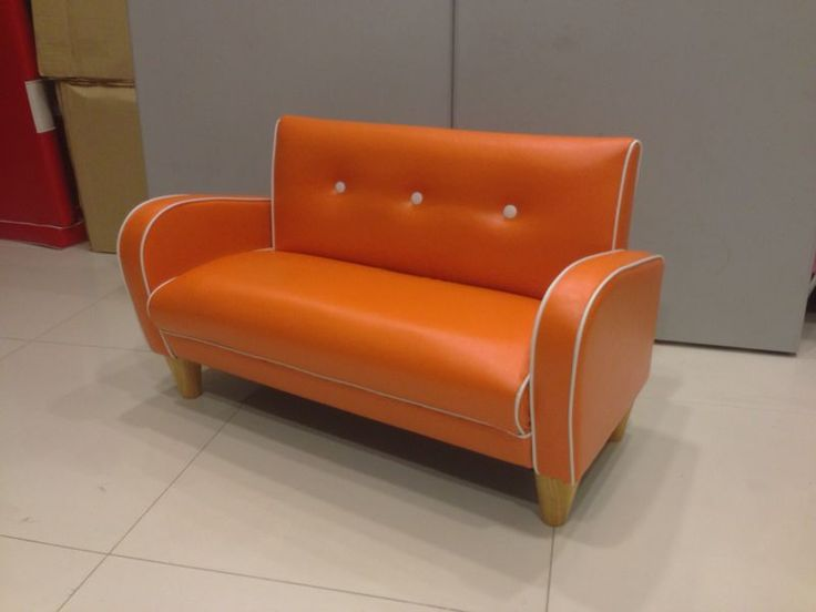 Retro Orange Mini Nancy 2 Seater