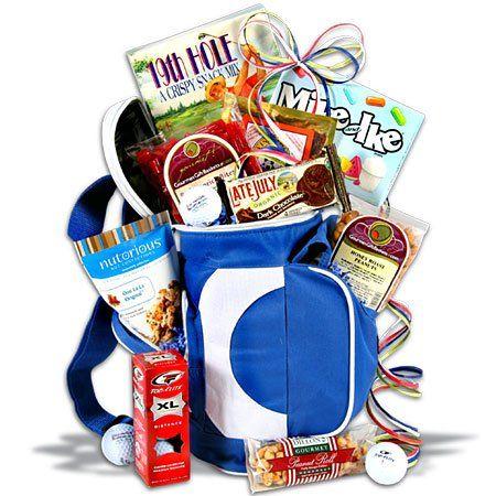 Golfer's Dream Gift Basket - Golf Gift Basket - http://mygourmetgifts.com/golfers-dream-gift-basket-golf-gift-basket/