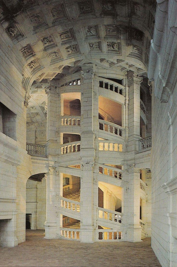 Château De Chambord, le Grand Escalier