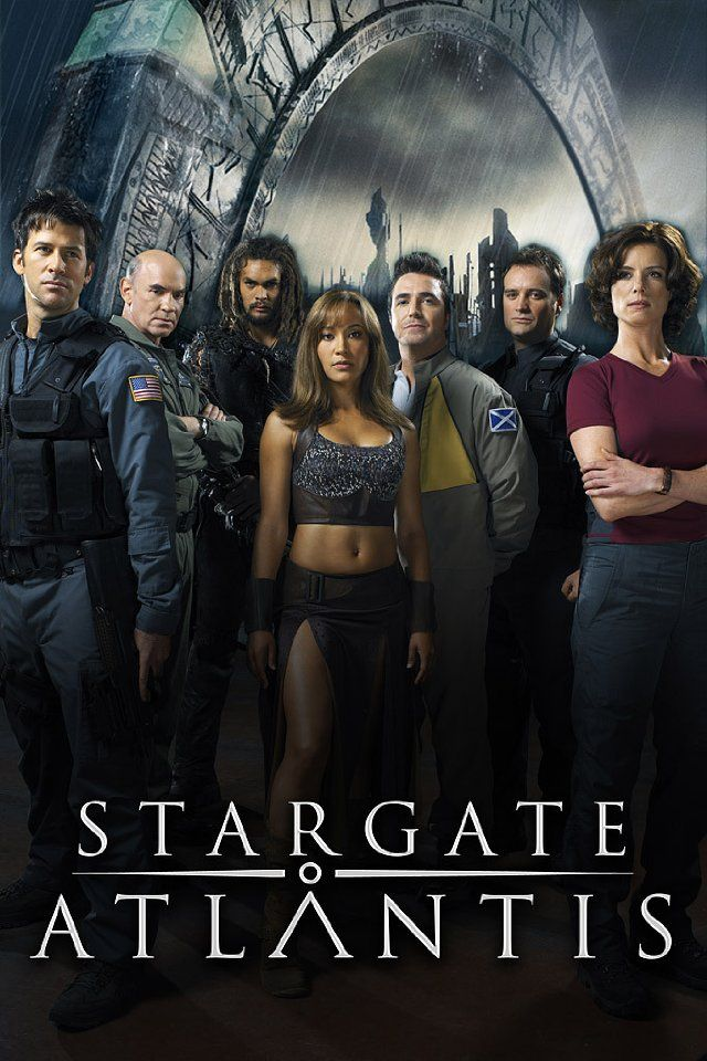 Stargate: Atlantis.  This is cast of seasons 2 & 3.  Sad day when they killed of Dr. Carson Beckett and took Elizabeth Weir.  (I can't remember their actors names respectfully).