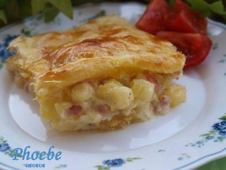Πίτα με πατάτες, μπέικον και τυρί