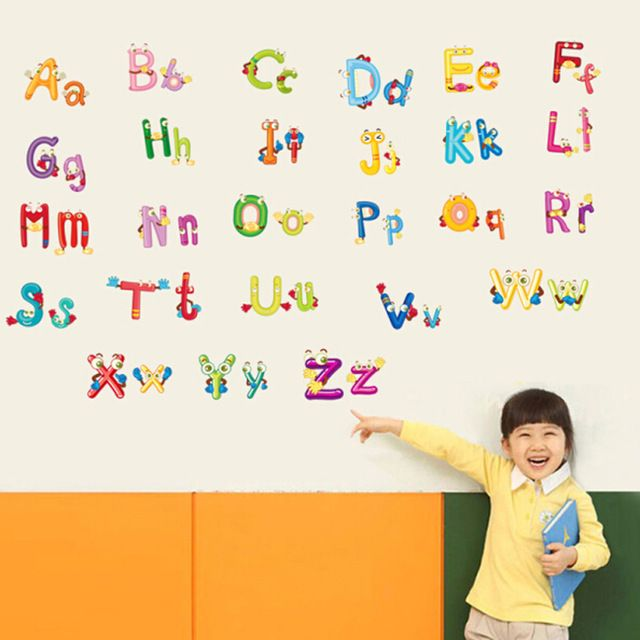 Good price Removabe 3d alphabet wall stickers for kids rooms adhesive DIY nursery wall decals wall pictures for children's room just only $4.85 with free shipping worldwide  #wallstickers Plese click on picture to see our special price for you