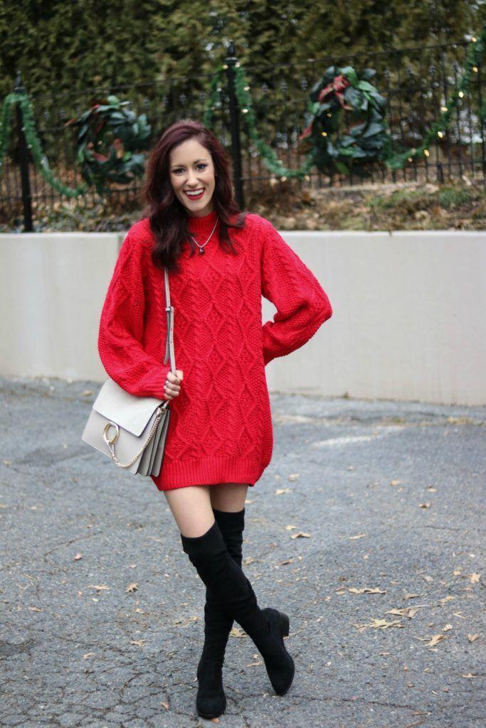 sweater dress, sweater dress oversized, sweater dresses, sweater dress outfit, sweater dress with boots, sweater dresses with boots, Trend to Try: Sweater Dresses + 40 Sweater Dresses to Shop this Season