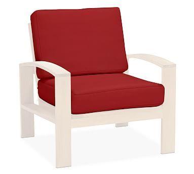 Madera Armchair Replacement Cushion Set, Sunbrella(R) Jockey Red Part 77