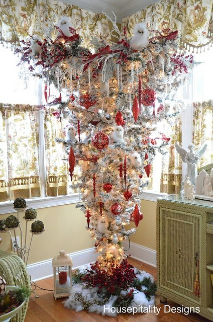 Home Tour The Cottage of the Week Starring Housepitality Designs - something different, an upside down Christmas tree!!