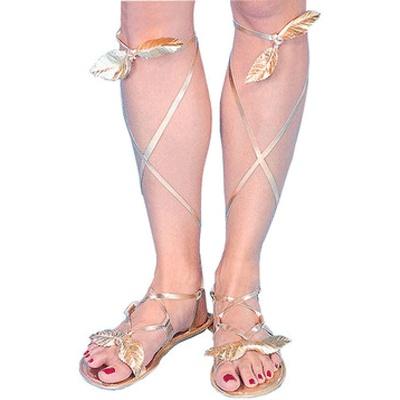 Gouden griekse sandalen