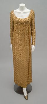 Woman's Dress 1967, American, Made of crepe