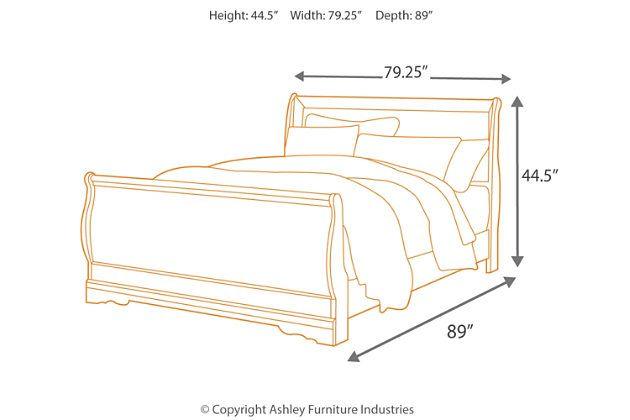 Best Anarasia Queen Sleigh Bed Ashley Furniture Homestore 400 x 300