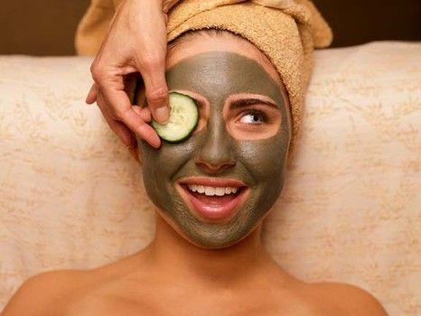 Facial masks at the spa