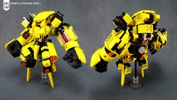 LEGO Mecha – The LEGO robots by Lu Sim (image)