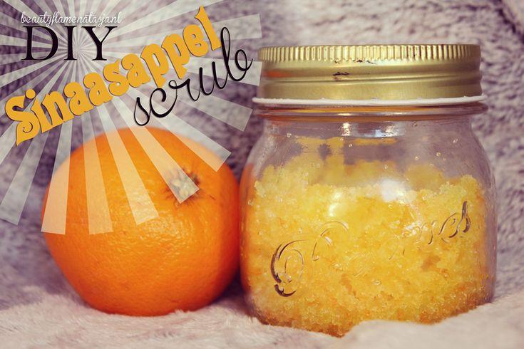 DIY ♥ Sinaasappel scrub - BeautyFlameNatasja  In dit artikel laat ik zien hoe je zelf je eigen sinaasappel scrub kunt maken en leg ik uit waarom de ingrediënten zo goed voor je zijn. #diy #scrub #beauty