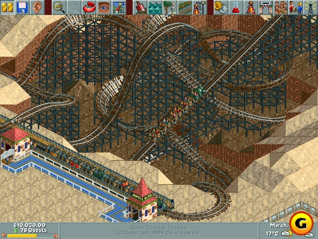 Rollercoaster Tycoon | Map design | Roller coaster tycoon, Fun games