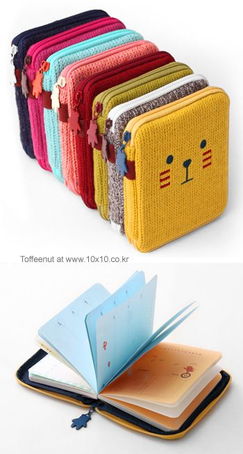 Knitted covers for journals.