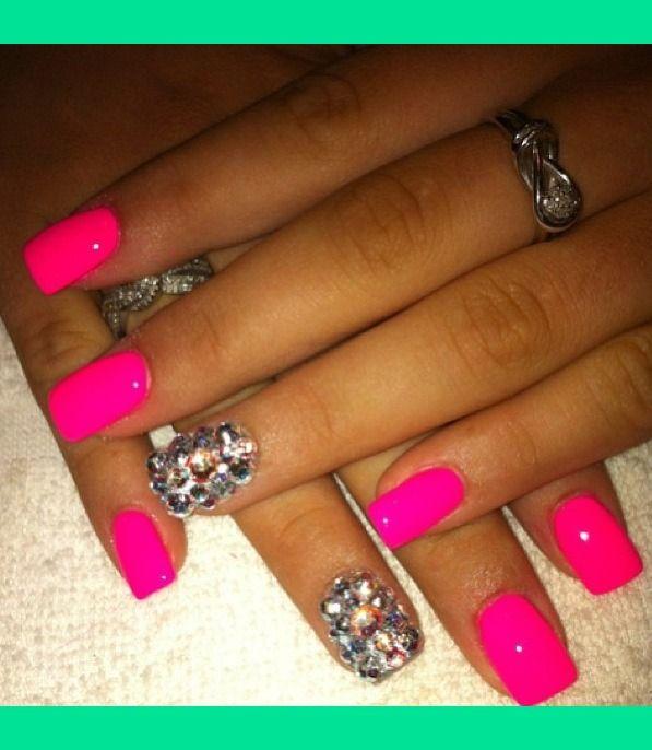 Hot Designs Nail Art Ideas hot pink nail designs 30 Beautiful And Unique Nail Art Designs
