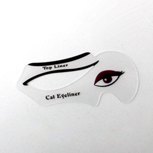 From 2.99:Quick Cat Eyeliner Stencil Card Smoky Eyes Models Template Shaper Guide Tool Medium
