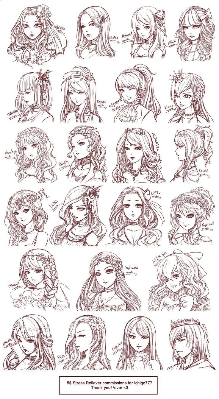 Haare zeichnen lernen schritt fur schritt