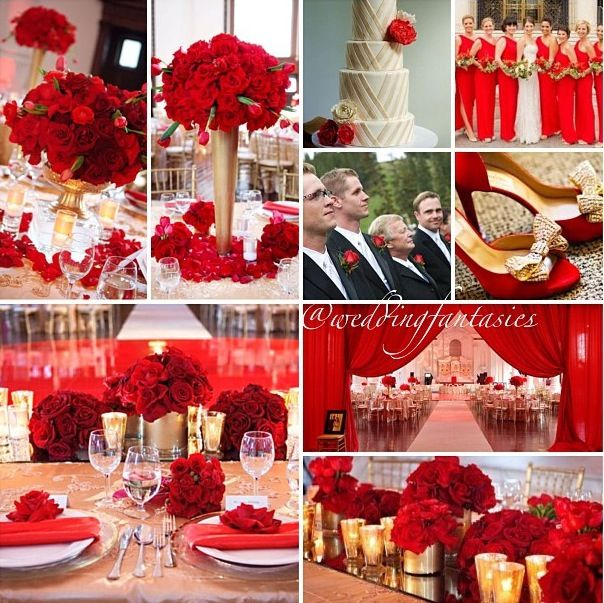 Pretty Red Wedding Theme Hopeless Pinterest And Themes