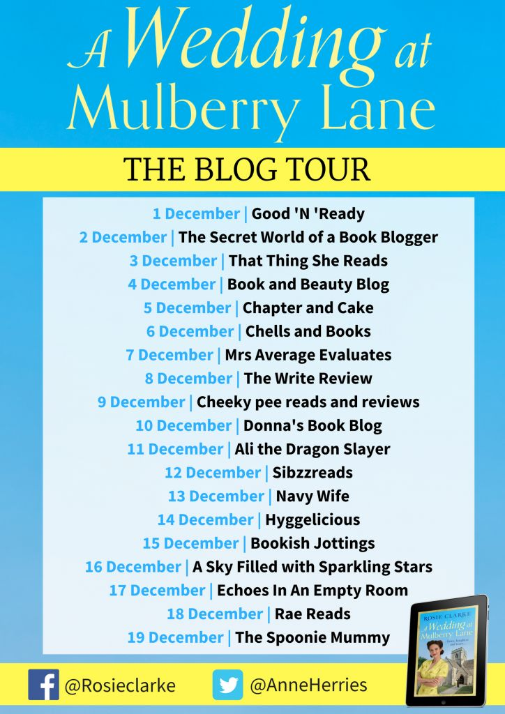 #BlogTour #Review ~ A Wedding at Mulberry Lane by Rosie Clarke @AnneHerries