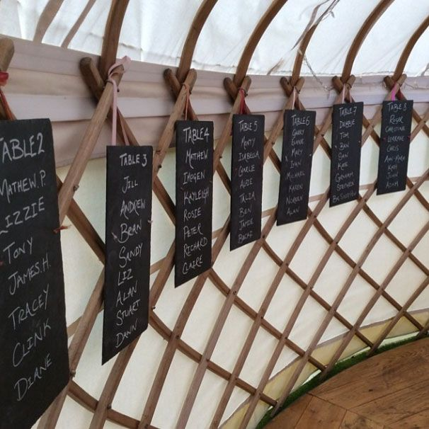 lovely slate wedding seating plan more unusual ideas for seating plans at http
