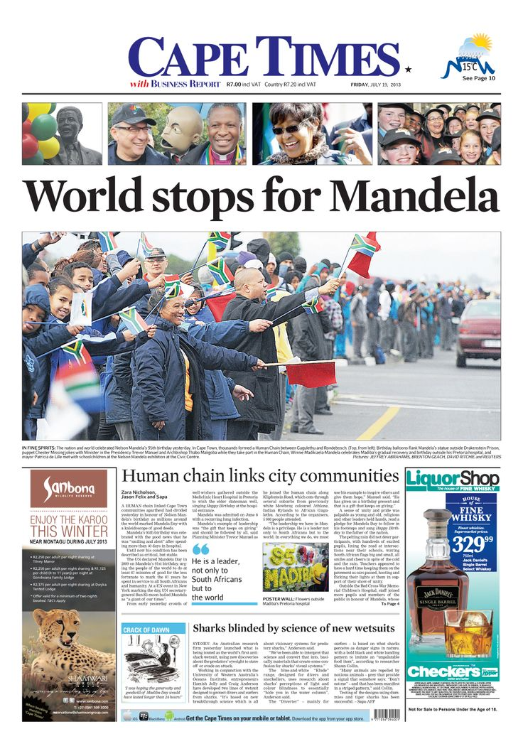 News making headlines: World stops for Mandela