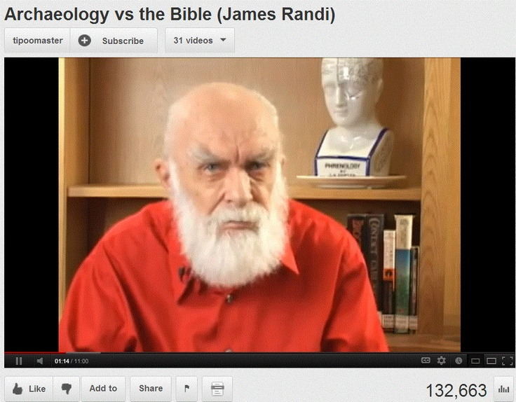 The myth of Nazareth - Archaeology vs the Bible (James Randi). > > > >  Click image for the video.