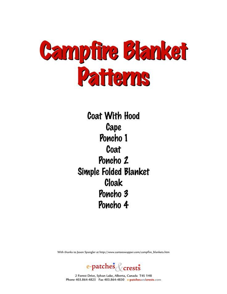 Campfire Blanket Patterns