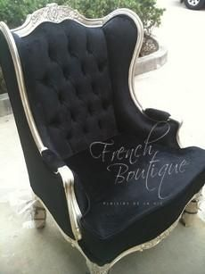 Oreilles Wingback Chair (Price for Silver Leaf or Gold Leaf frame) - Want.