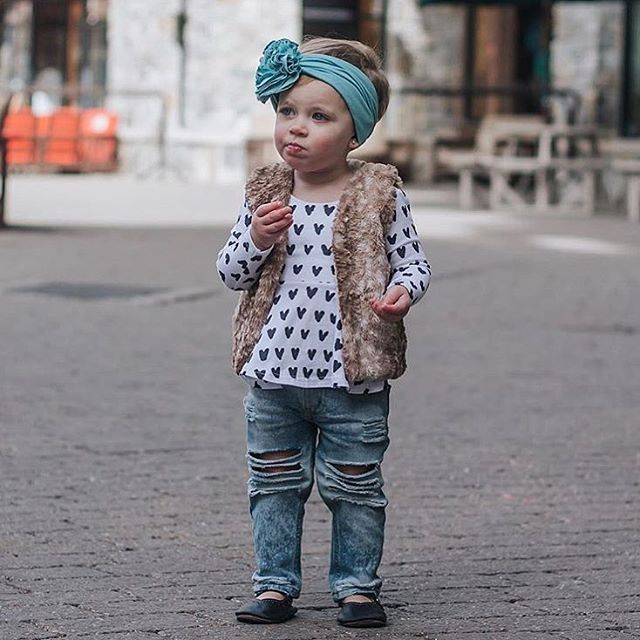 0aacfa9ff The cutest little boho babe! Who wants to see fawn vests make a ...