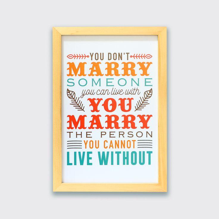 Marrying Someone You Can Not Live Without (MAR16-15) - Menikah adalah keputusan yang sangat besar dalam hidup seseorang. Nikahilah orang yang kamu tidak bisa hidup tanpanya niscaya kamu akan bahagia