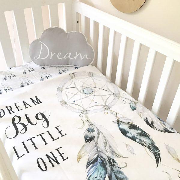 Dream big Dreamcatcher Cot bedding baby nursery blanket by Snuggly Jacks