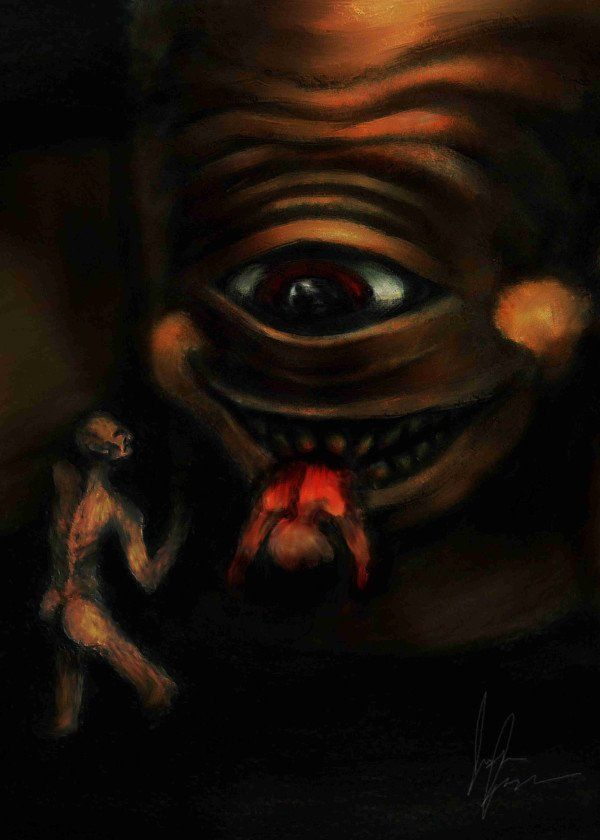 Inspired By Francisco Goya S Saturn Devouring His Son This Is An