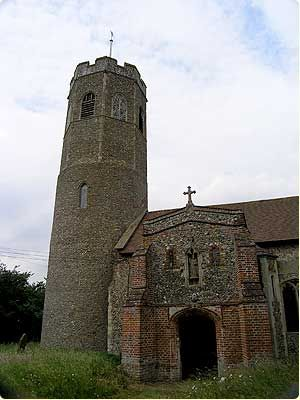 Ilketshall St Andrew Church. In 1841 the population of the village was 520 people.