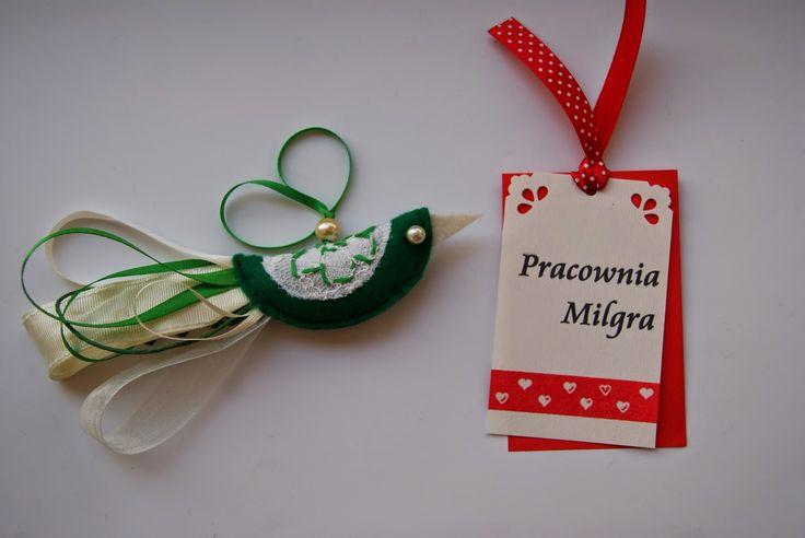 Pracownia Milgra: Dekoracje - Rajski Ptak zielony